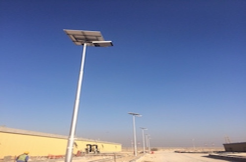 Solar lights for Kahramaa Mesaeed substation